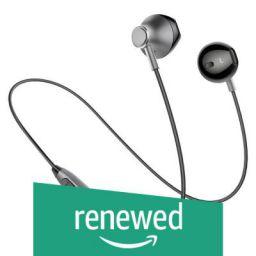 (Renewed) PTron Intunes Pro Headphone Magnetic Earphone Wireless Bluetooth Headset with Mic (Gray)