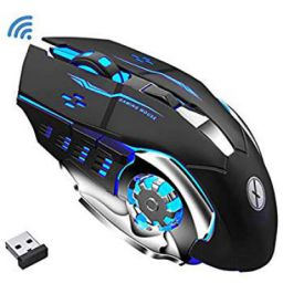 Xmate Zorro Pro 3200DPI, Rechargeable 2.4Ghz Wireless Gaming Mouse with USB Receiver