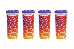 Signoraware Energy Jumbo Plastic Tumbler Set, 500ml, Set of 4, Deep Violet