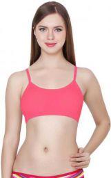 Women Bralette Lightly Padded Bra(Pink)