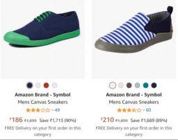 Amazon Brand - Symbol Men's footwear @ Minimum 70% off