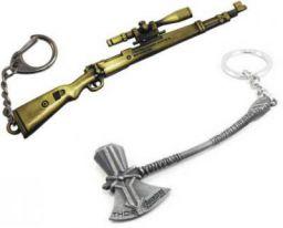 One Wish PUBG KAR 98 Sniper With Marvel Thor AXE Key Chain
