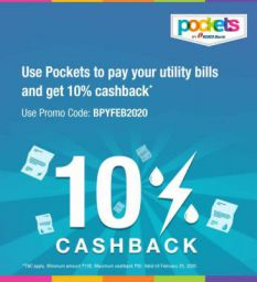 10% Cashback Offer on Utility Bills by Pockets