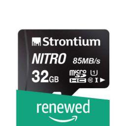 (Renewed) Strontium Nitro 32GB Micro SDHC Memory Card 85MB/s UHS-I U1 Class 10 High Speed (SRN32GTFU1QR)