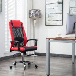 Flipkart Perfect Homes Rex Fabric Office Executive Chair (Red)