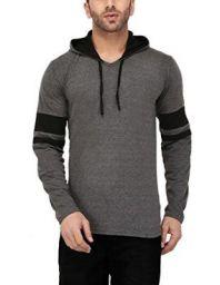 Katso Mens Cotton Hooded Stripe T-Shirt
