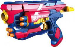 Miss & Chief Manual Blaze Storm Gun Blaster with 10 Foam Bullets for Kids