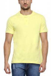 Aventura Outfitters Mens Yellow Henley T-Shirt