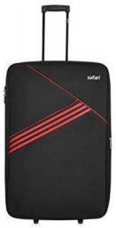 Safari Angle 59 Cms Polyester Black Cabin 2 Wheels Soft Suitcase