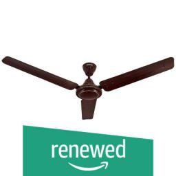 (Renewed) Amazon Brand - Solimo Swirl 1200mm Ceiling Fan (Brown)