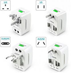 Jap Universal World Wide Travel Charger Adapter Plug, White Worldwide Adaptor  (White)