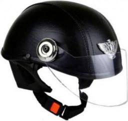 GTB LADIES LEATHER MINI CAP Motorbike Helmet