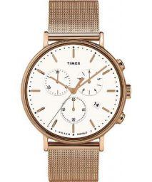 Timex Fairfield Quartz Movement White Dial Unisex Watch TW2T37200