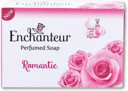 Enchanteur Romantic Perfumed Soap, 75g with Roses & Jasmine Extracts