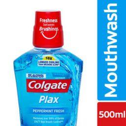 Colgate Plax Peppermint Fresh Mouthwash – 500 ml