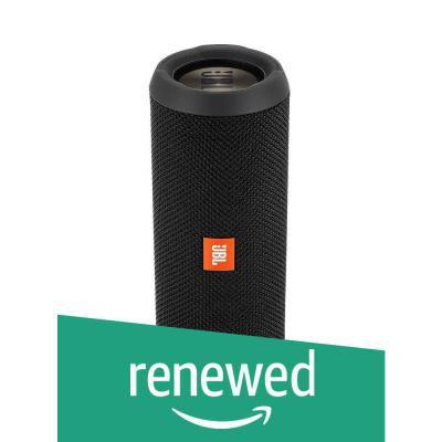 (Renewed) JBL Flip 3 Stealth Waterproof Portable Bluetooth Speaker (Black)