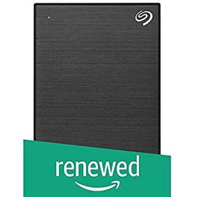 (Renewed) Seagate 4TB Backup Plus Portable External Hard Drive with Free 2 Month Adobe CC Photography Plan - Black
