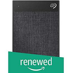 (Renewed) Seagate 2TB Backup Plus Ultra Touch Portable External Hard Drive with 2 Years Seagate Rescue Service - Black