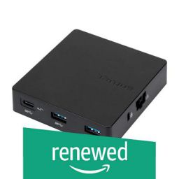 (Renewed) Targus DOCK412AP USB-C Alt-Mode Travel Dock (Black)