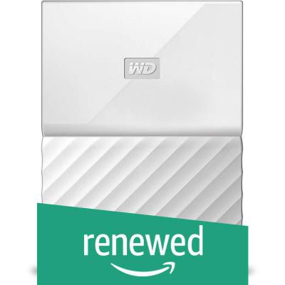 (Renewed) WD My Passport 3TB Portable External Hard Drive (White)