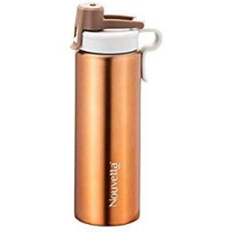 Nouvetta Modena Stainless Steel Single Wall Bottle, 750 ml, Gold