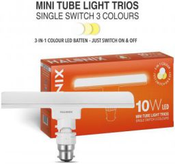 Halonix (3 in 1 color) 10-Watt Trios Base B22 LED T-Light