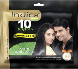 Indica Crème Hair Color Natural Black, 40ml
