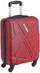 Safari Polycarbonate 51 Ltrs Red Hardsided Carry On (TRAFFIK Anti-Scratch 4W 55)