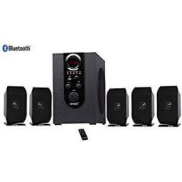 Vemax Bash 5.1 Bluetooth Multimedia Speaker Home Theater System with FM, USB, AUX, MMC (Black & Orange)