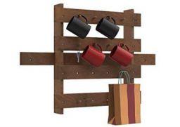 Forzza Primrose wallshelf with Hanging Racks