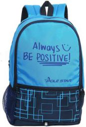 POLESTAR Hero 32 Lt Sky & Navy Casual Backpack / Day Pack Bag