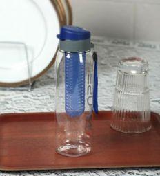 Plastic Blue 800 ML Bottle - Set of 4 By Cello