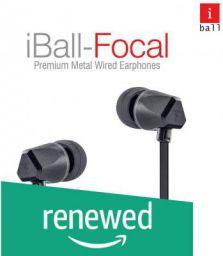 (Renewed) iBall Focal in Ear Wired Earphones - Black