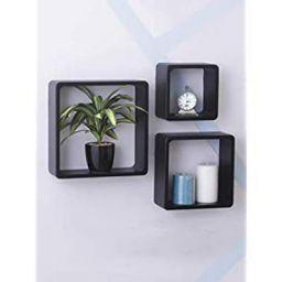 Home Sparkle Sh334 Wooden Cube Shelf (Set of 3)