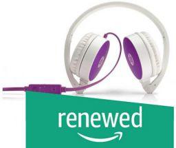 (Renewed) HP H2800 Headset Stereo Headset with Mic (Purple)