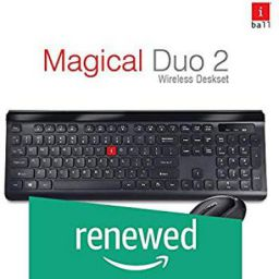 (Renewed) iBall Magical Duo 2 Wireless Deskset - Keyboard and Mouse