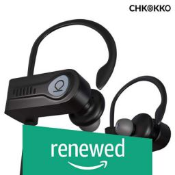 (Renewed) CHKOKKO Mercury M2 Plus IPX7 Wireless Bluetooth 5.0 Waterproof Earphones with Richer Bass Sound and HD Mic