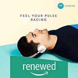 (Renewed) Motorola S505 Moto Pulse Wireless On-Ear Headphone (White)