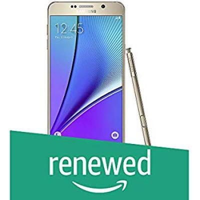 (Renewed) Samsung Galaxy Note 5 N920G (Gold, 32GB)