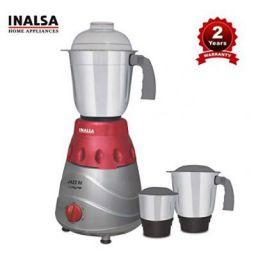 Inalsa Jazz Dx 780-Watt Mixer Grinder with 3 Jars, (Grey/Maroon)
