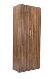 Trevi Split 2-Door Wardrobe Without Mirror (Suede Matte Finish, Indiana Teak)