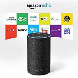 Amazon Echo (2nd Gen), Certified Refurbished, White – Smart speaker with Alexa – Like new, backed with 1-year warranty