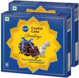 Pillsbury Cookie Cake - Greetings Gift Pack, Pack of 2, 240g