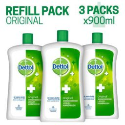 Dettol Original Liquid Soap Jar - 900 ml (Pack of 3)
