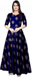 Trendy Fab Women Fit and Flare Dark Blue Dress