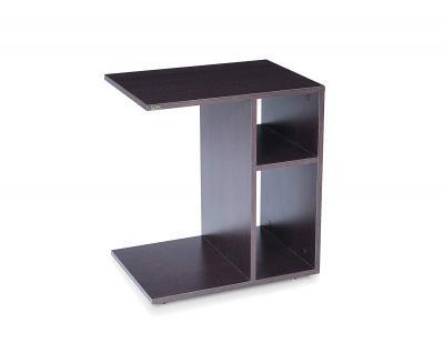 Trevi Prism Movable Side Table Table (Suede Matte Finish, Flower Wenge)