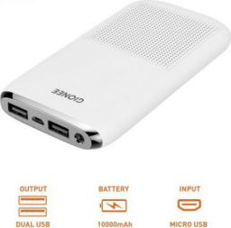 Gionee 10000 mAh Power Bank (Fast Charging, 12 W) (White, Lithium Polymer)