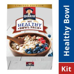 Quaker Oats - 1 Kg with Wooden Bowl & Spoon