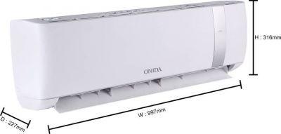 Onida 1.5 Ton 3 Star Split Inverter AC with Wi-fi Connect  - White, Silver