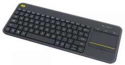Logitech K400 Plus TV Wireless Keyboard With Built-In Multi-Touch Touchpad (Black)